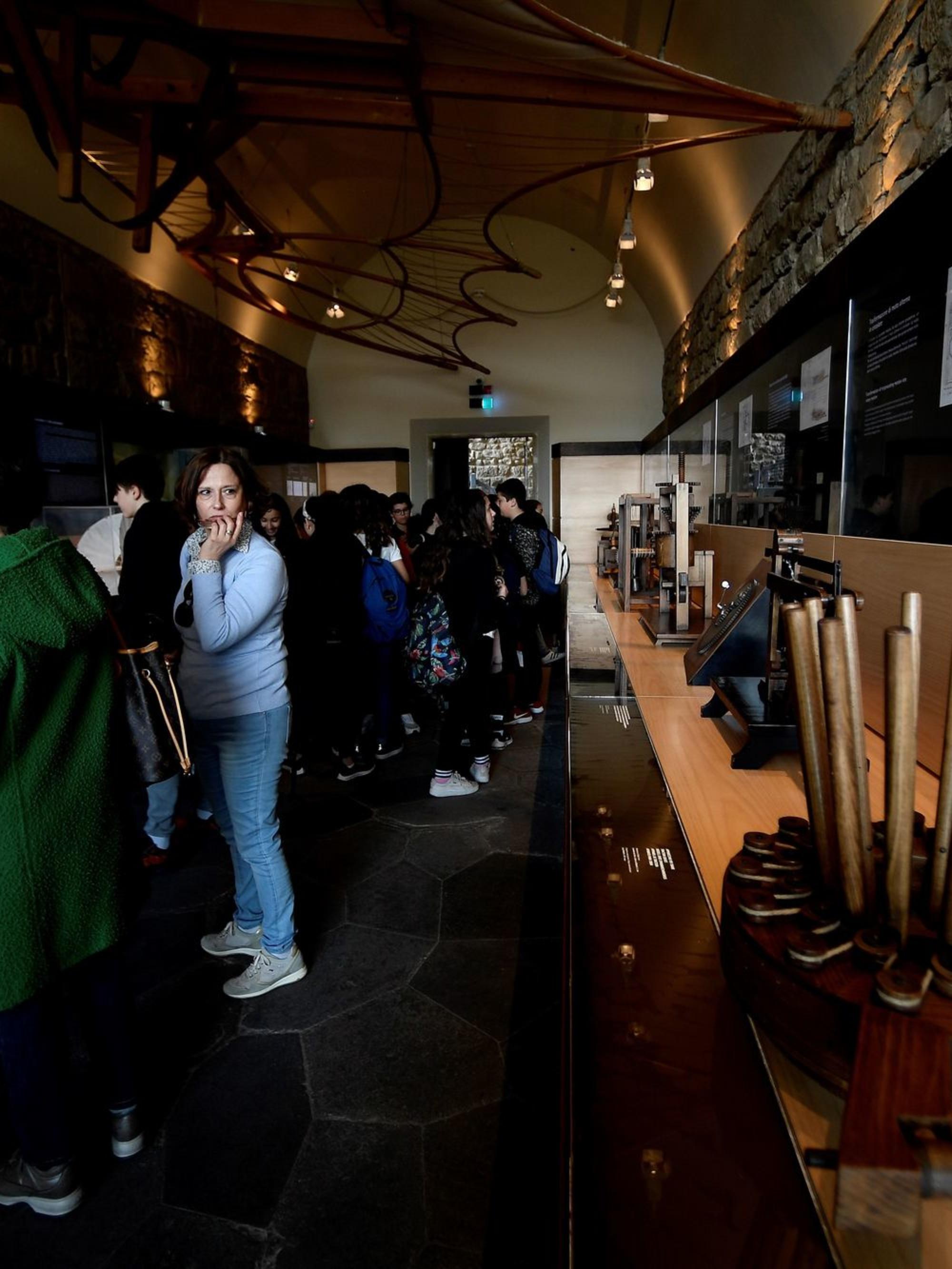 Au musée consacré à Léonard de Vinci, AFP