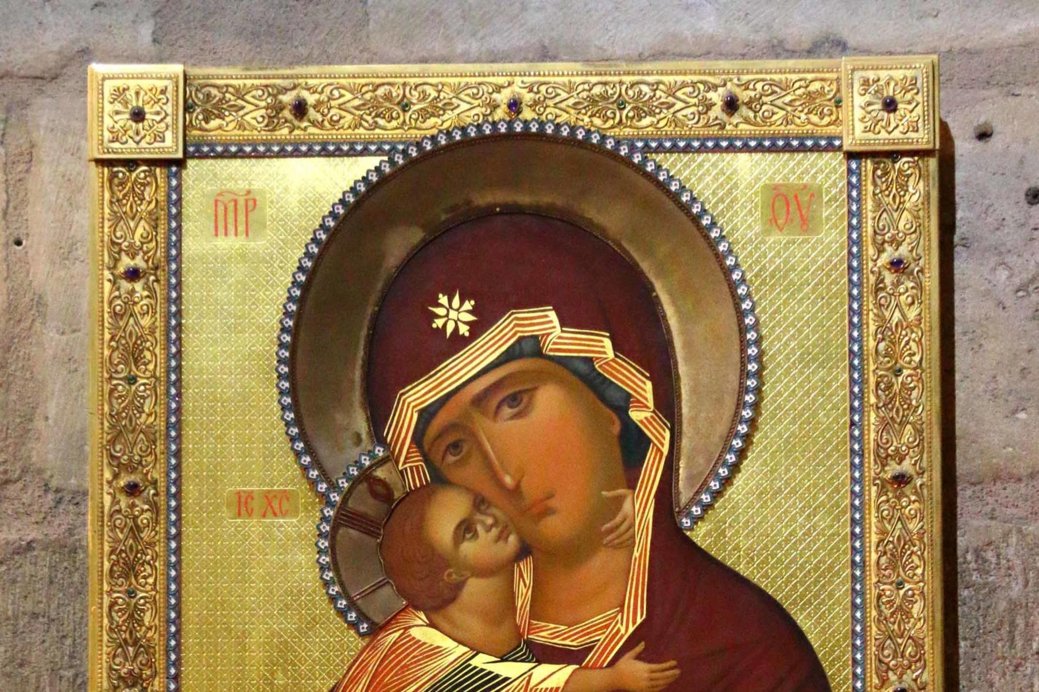 Représentation de la Vierge à l'enfant, conservée à Notre Dame, Getty Images