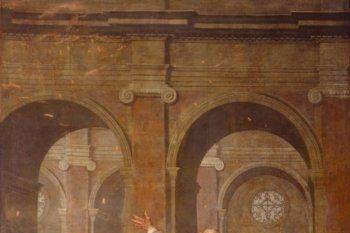 La Descente du Saint Esprit, de Jacques Blanchard, 1634, l'un des 76 grands Mays conservés à Notre Dame de Paris, Wikicommons