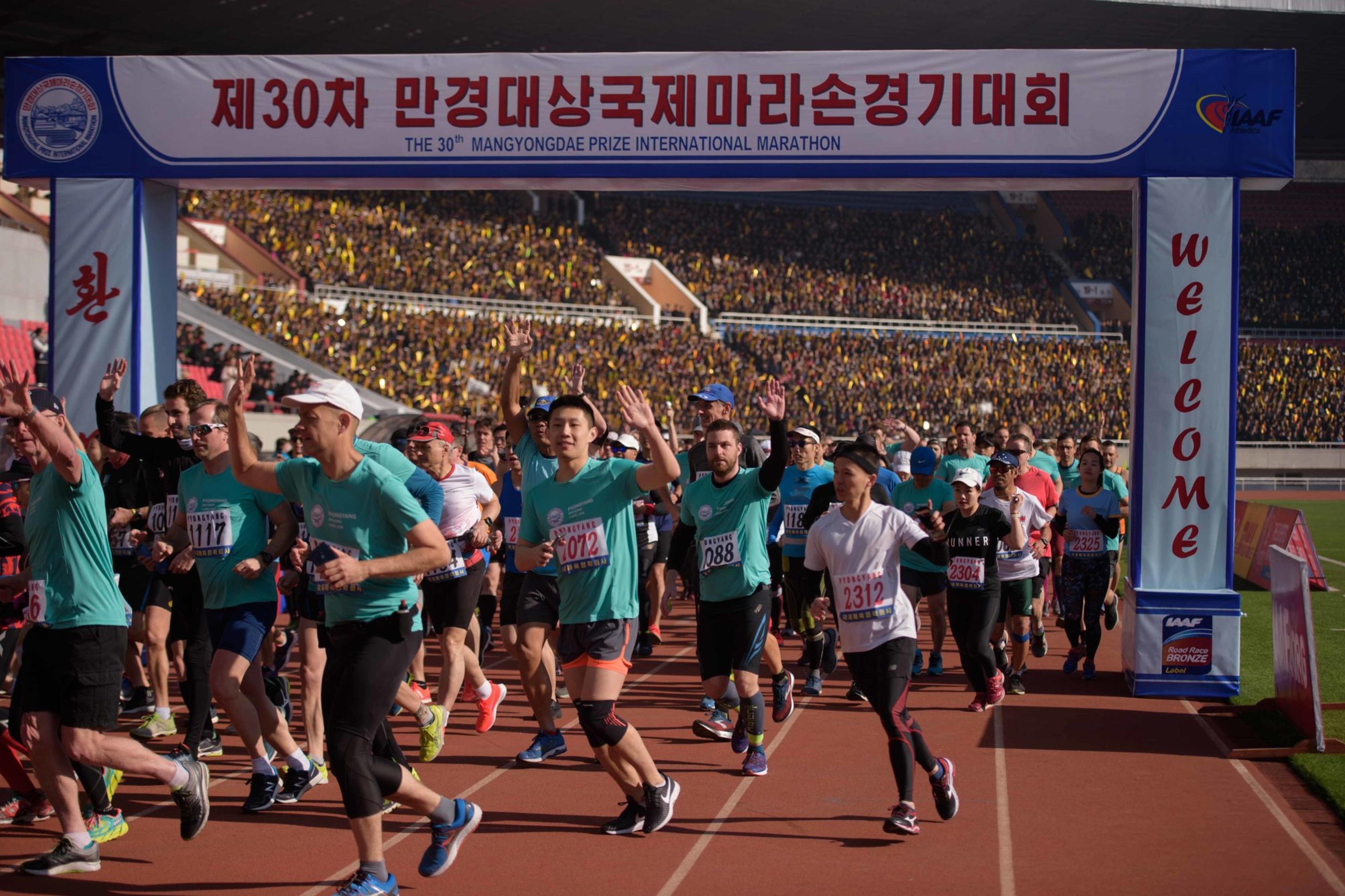 Le Marathon de Pyongyang, à nouveau prisé des Occidentaux, AFP