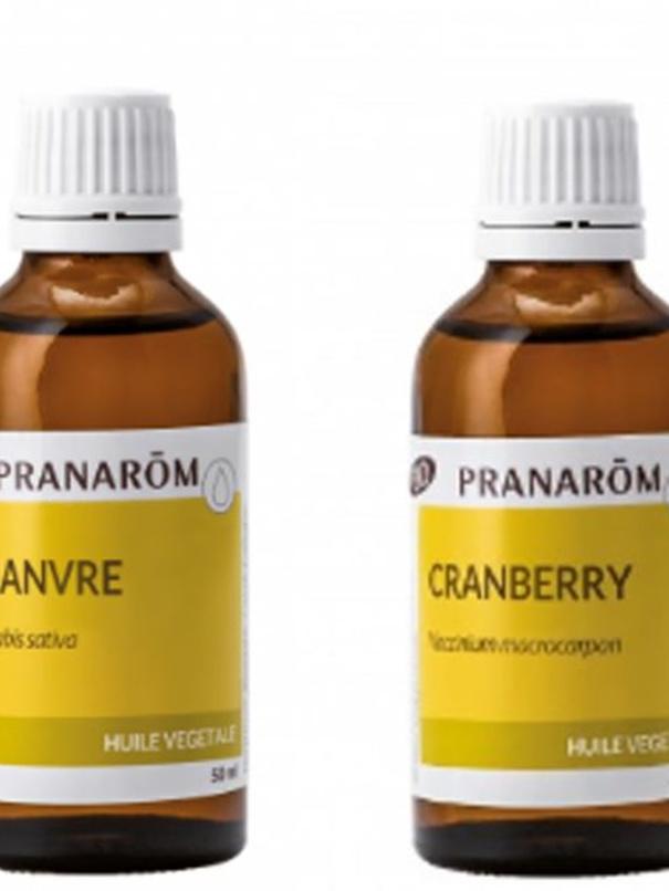Huiles de chanvre et cranberry, de Pranarom, DR