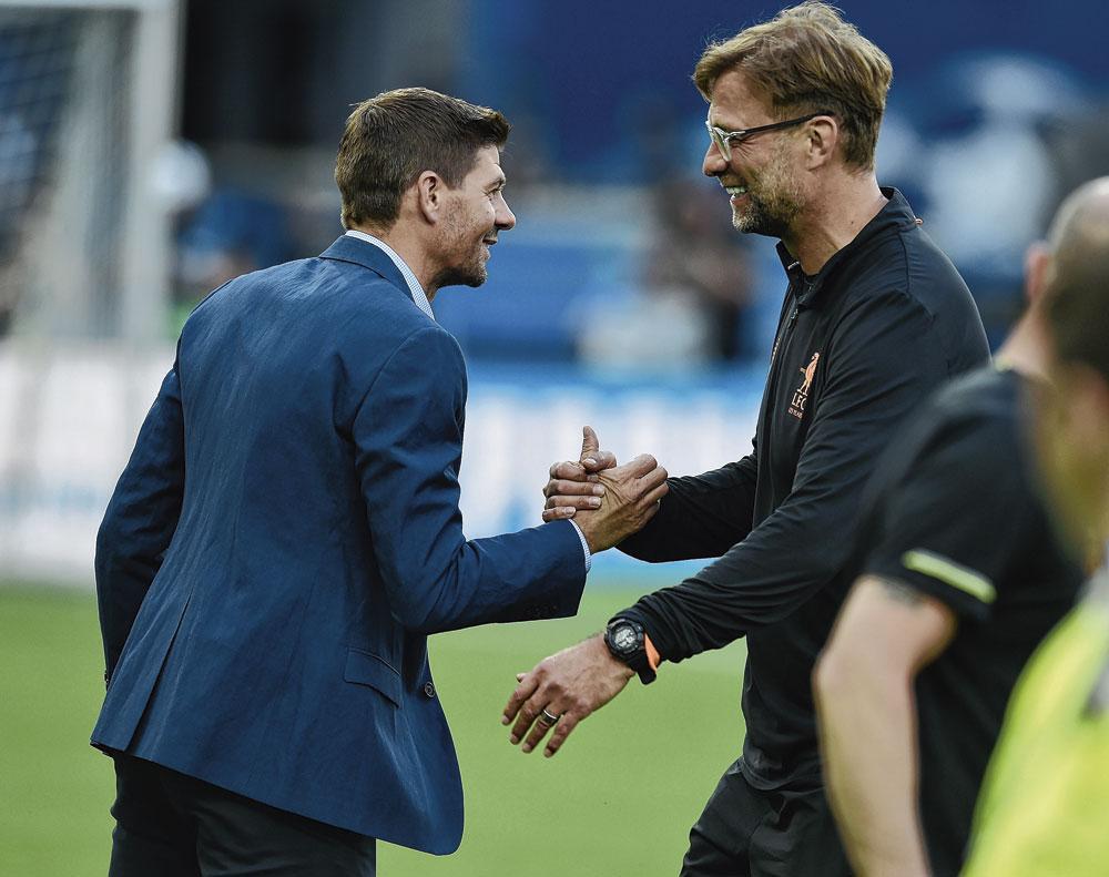 Met Steven Gerrard: 'Als je mij vraagt wie me zou moeten opvolgen, dan zou ik Stevie zeggen.', GETTY