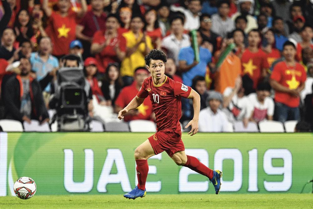 Het doel van de Vietnamese nationale ploeg is om het WK 2026 te bereiken. Nguyen Cong Phuong is daar een belangrijke pion in., BELGAIMAGE