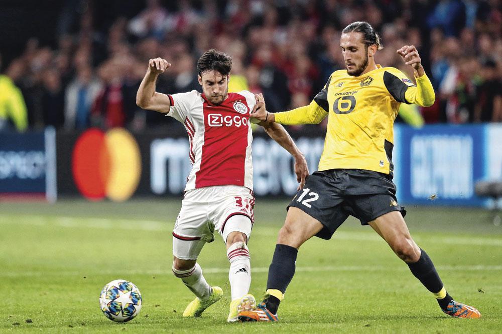 Nicolas Tagliafico a inscrit le troisième but de l'Ajax contre Lille., BELGAIMAGE