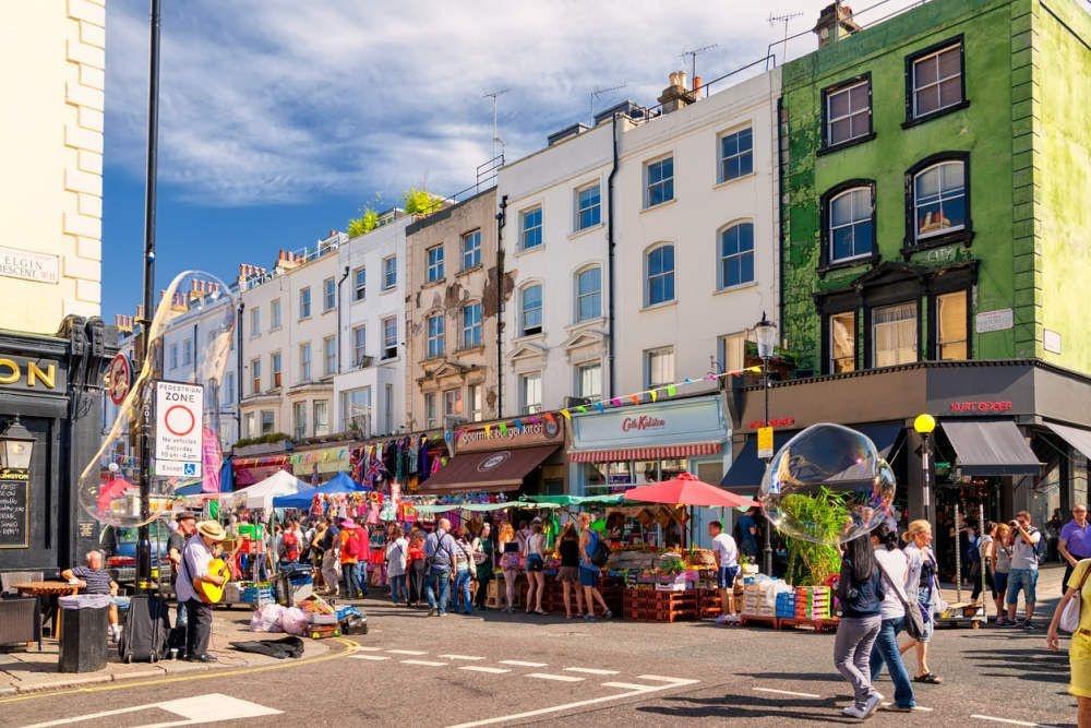 Portobello Road in Notting Hill., Getty