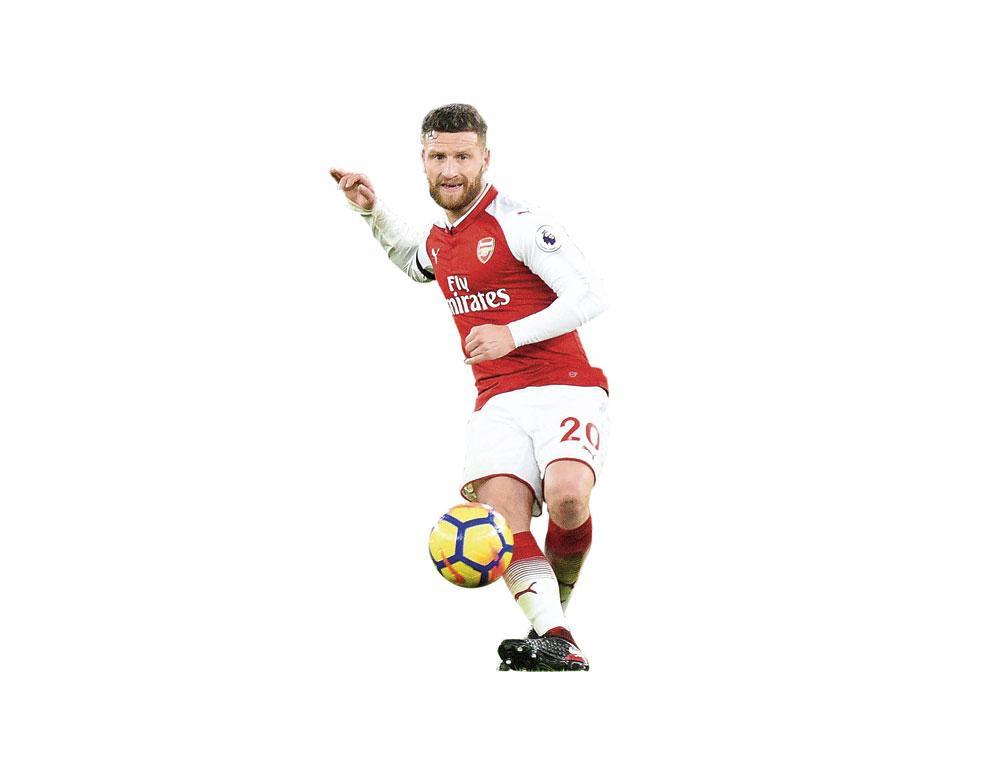 Aangetrokken voor 41 miljoen euro: Shkodran Mustafi. Arsenal gedraagt zich als een onverzadigbare nouveau riche., BELGAIMAGE