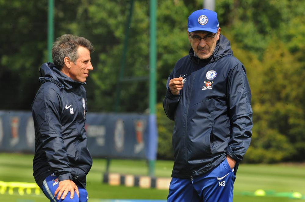 Gianfranco Zola en Maurizio Sarri bij Chelsea, BELGAIMAGE