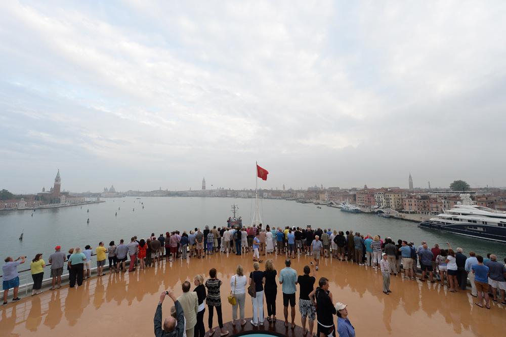 Vue sur Venise depuis le paquebot Queen Elizabeh, Getty Images