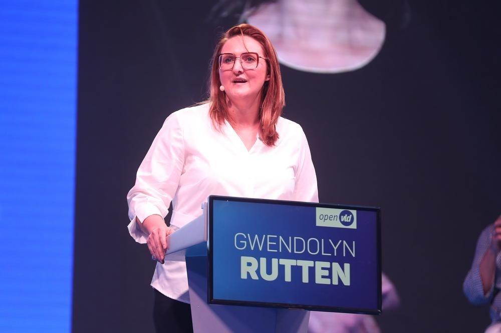 Open VLD-voorzitter Gwendolyn Rutten, BELGA