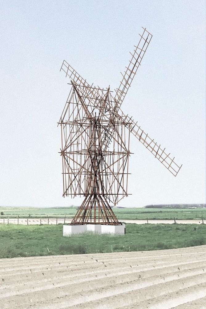 Studie voor een windmolen, Gijs Van Vaerenbergh