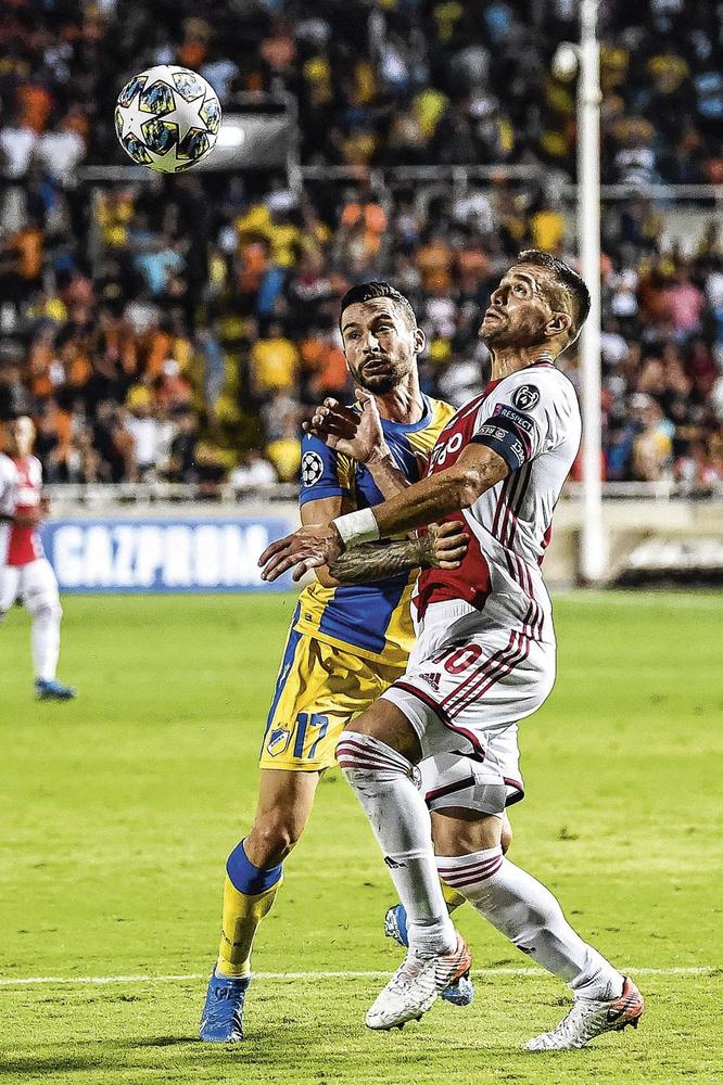 L'Ajax, représenté ici par Dusan Tadic, doit encore forger sa qualification pour la phase finale face à Hapoel., BELGAIMAGE