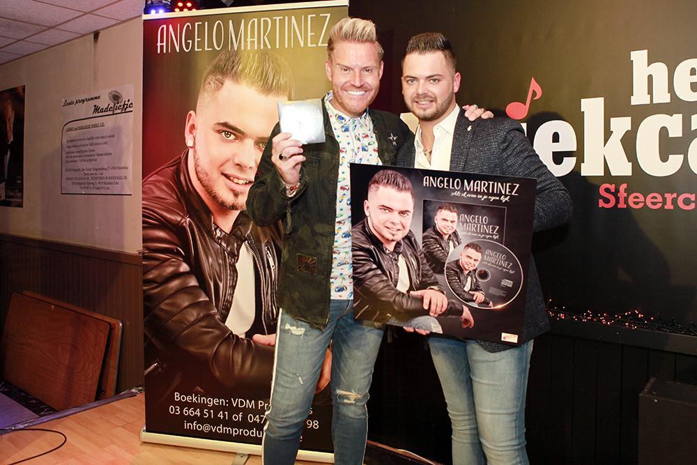 Angelo Martinez, samen met zanger Michael Lanzo., FODI