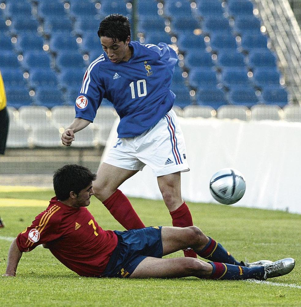 Chez les Bleuets, les Bleus ou City, Samir Nasri a fêté quelques beaux succès., BELGAIMAGE