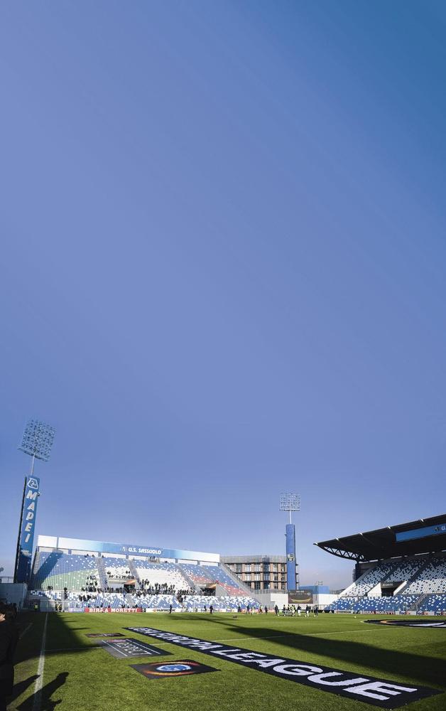 In dit MAPEI Stadium spelen de Belgische beloften hun drie poulewedstrijden tijden het EK U21., belgaimage - christophe ketels