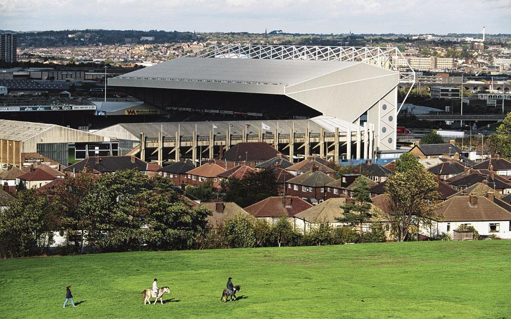 lland Road, het stadion van Leeds, ligt in de glooiende heuvels van Yorkshire., GETTY IMAGE