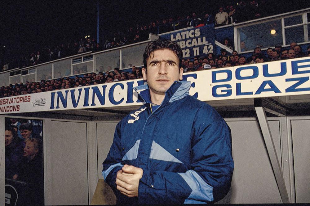 Ook de legendarische Eric Cantona speelde één seizoen bij Leeds United., GETTY IMAGE