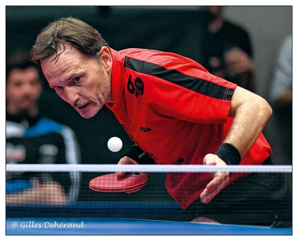 Jean-Michel Saive was niet erg gelukkig met alle reglementswijzigingen van de ITTF., GILLES DEHÉRAND