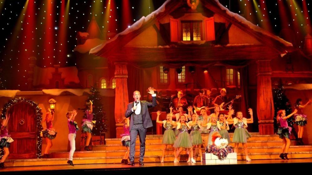 Gert in actie tijdens de Samson & Gert Kerstshow in december 2018 in het Plopsa Theater., FODI