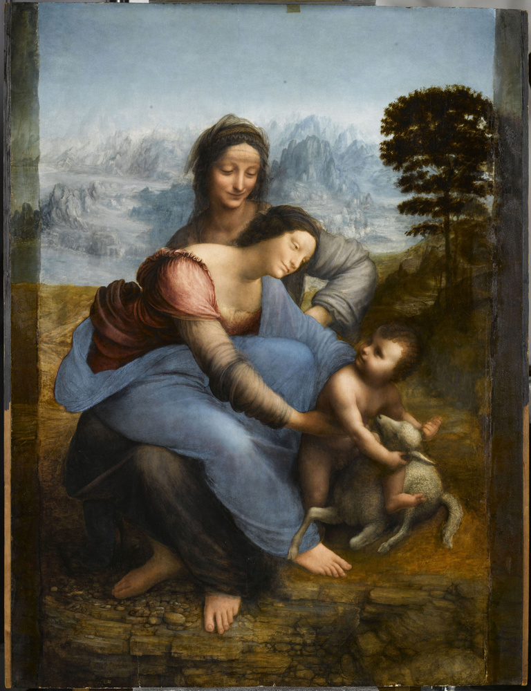'Sainte Anne, la Vierge et l'Enfant Jésus jouant avec un agneau', dite 'La Sainte Anne', vers 1503-1519, RMN-Grand Palais (musée du Louvre)/ René-Gabriel Ojéda