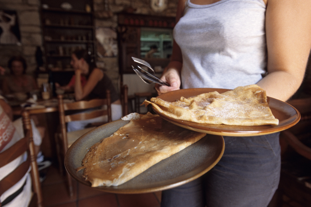 """La crêpe """"kraz"""", de la crêperie le Vieux Quimper, à Quimper, dans le Finistère Sud, Getty Images"""