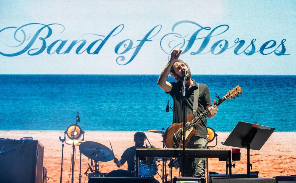 Band of Horses aan het werk op het Innings Festival in Arizona eerder dit jaar. Zondag staan ze op Cactusfestival., Getty Images