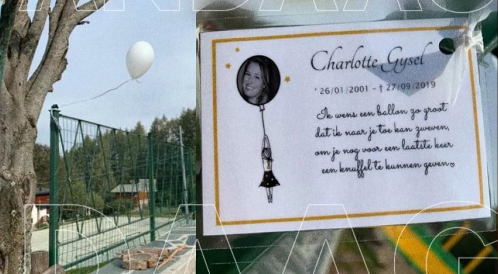 Een van de witte ballonnen belandde in Italië., screenshot VRT