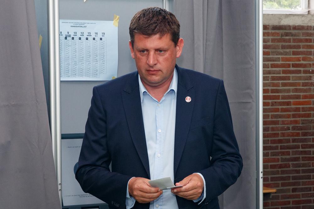 SP.A-voorzitter John Crombez op 26 mei 2019., Belga