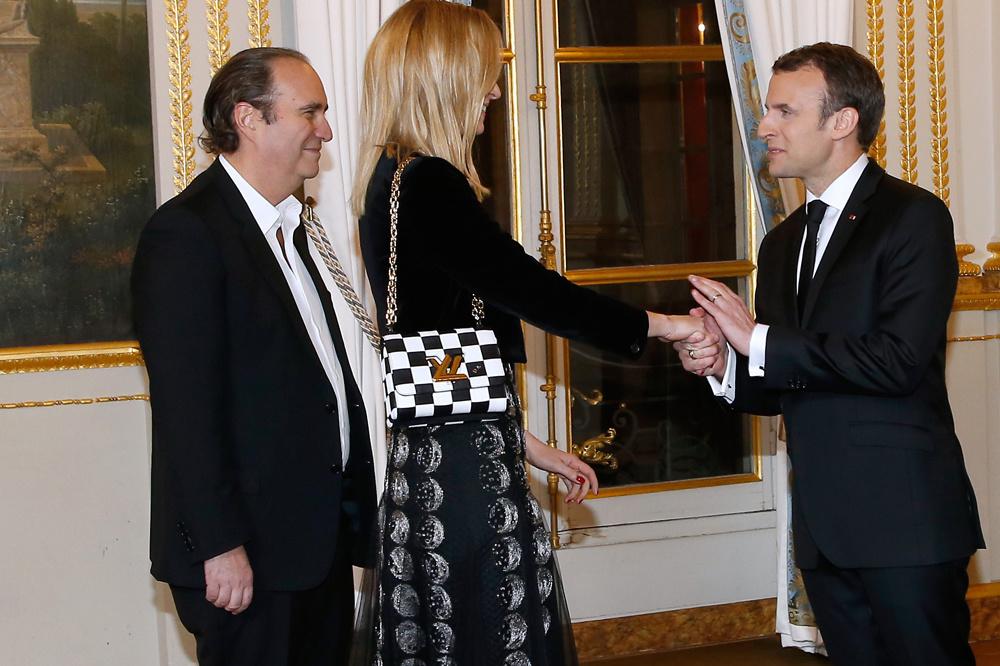 Xavier Niel et sa compagne, Delphine Arnault, fille de Bernard Arnault (LVMH) sont des proches du président Emmanuel Macron, Getty Images