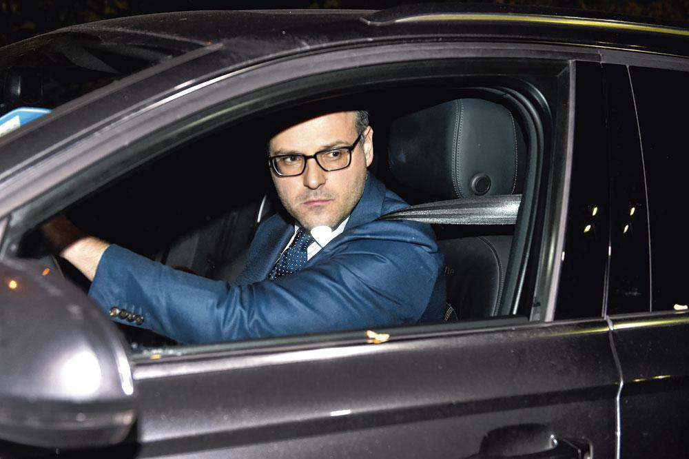 Frédéric Thiebaut, advocaat van Olivier Somers: 'Ik heb hier voor mezelf opgeschreven: kalm blijven.', belgaimage