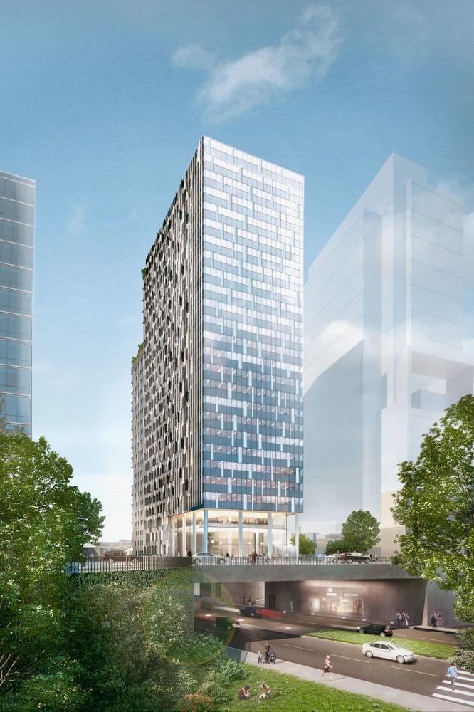 The One, conçue par Atenor, 23 niveaux mêlant bureaux et logements., ATENOR
