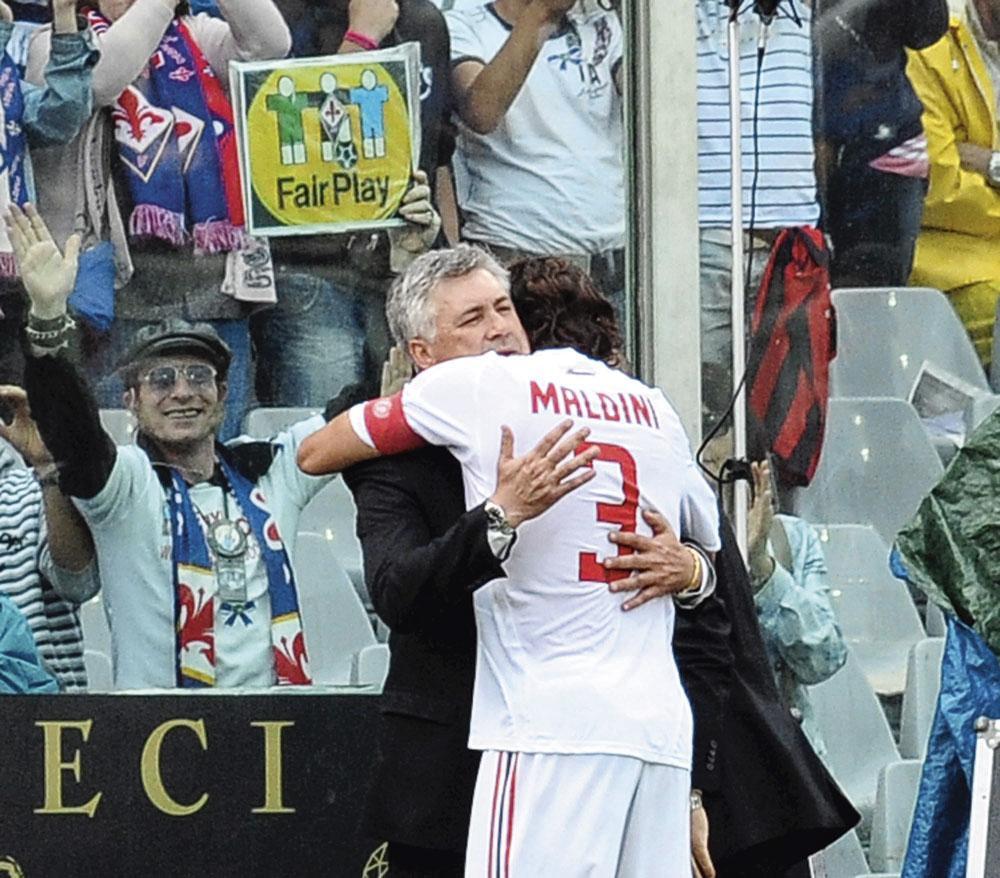 De jaren met Carlo Ancelotti als coach vond Maldini de mooiste., belgaimage