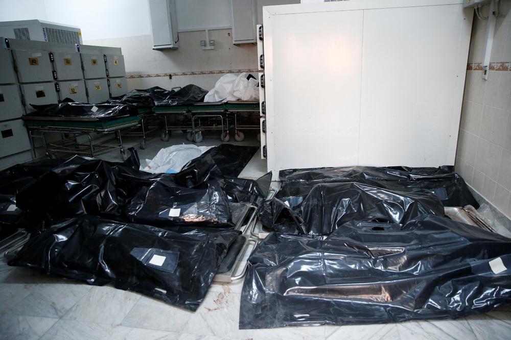 Centre de migrants frappé par une attaque aérienne dans la banlieue de Tajoura à Tripoli, en Libye, le 3 juillet 2019., Reuters