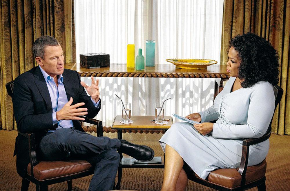 Lance Armstrong a confessé s'être dopé à la célèbre présentatrice américaine Oprah Winfrey en 2013., GETTYa