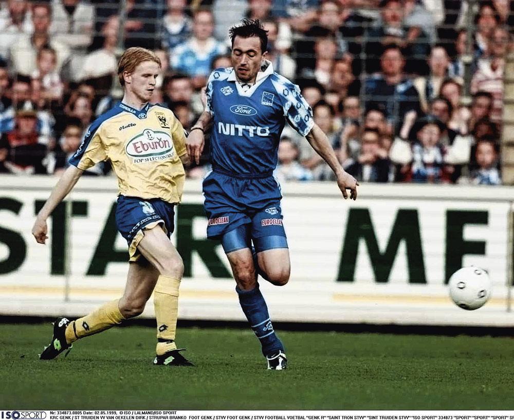 In duel met Wouter Vrancken in de Limburgse derby., belgaimage