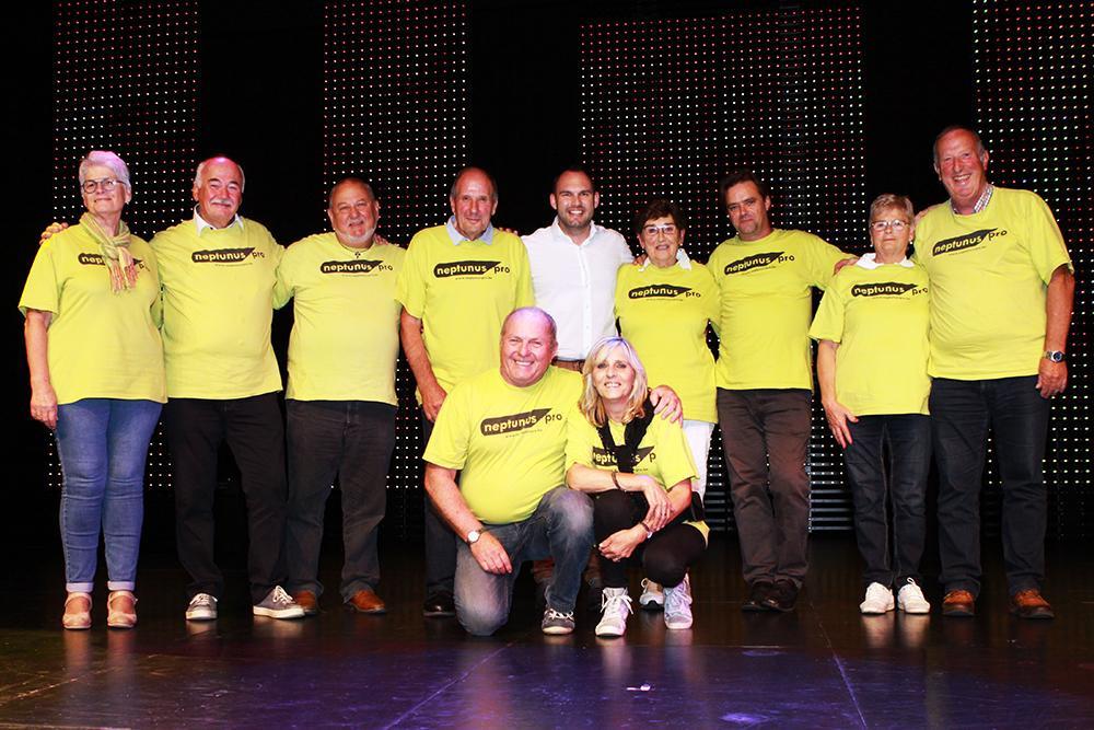 Helemaal op het einde maakten we nog een groepsfoto, samen met organisator Dieter Bruneel van Neptunus-Pro., FODI