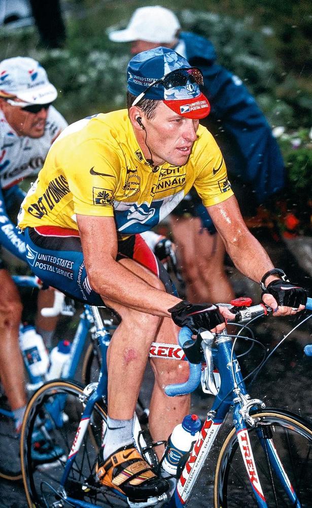 Lance Armstrong lors de sa victoire au Tour en 1999., GETTY