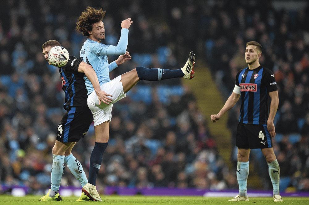 Sur base des statistiques, Philippe Sandler, prêté à Anderlecht cette saison, a 0,8 % de chances de porter un jour le maillot de l'équipe première de Manchester City., BELGAIMAGES - GARY CALTON