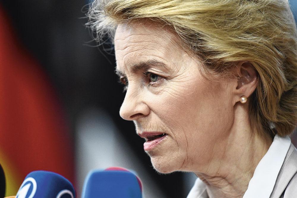 """URSULA VON DER LEYEN """"De Commissievoorzitter belooft met haar Green Deal veel meer dan we eigenlijk doen."""", REU"""