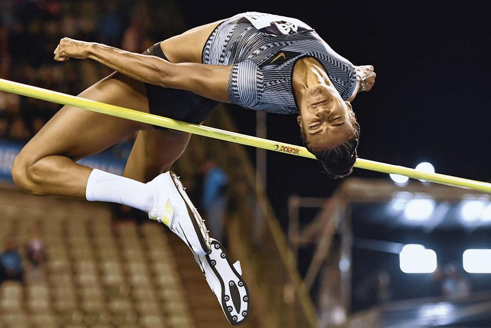 Le saut en hauteur, une des disciplines prisées par Nafi Thiam., BELGAIMAGE
