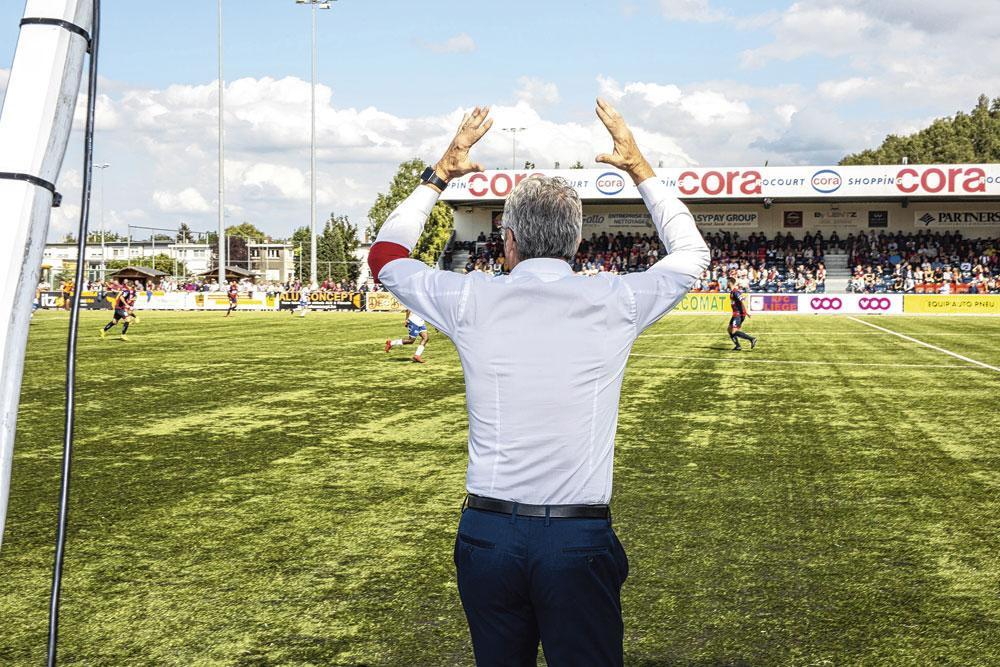 Rocourt était bien garni pour le premier match de la saison, face à Heist., BELGAIMAGE