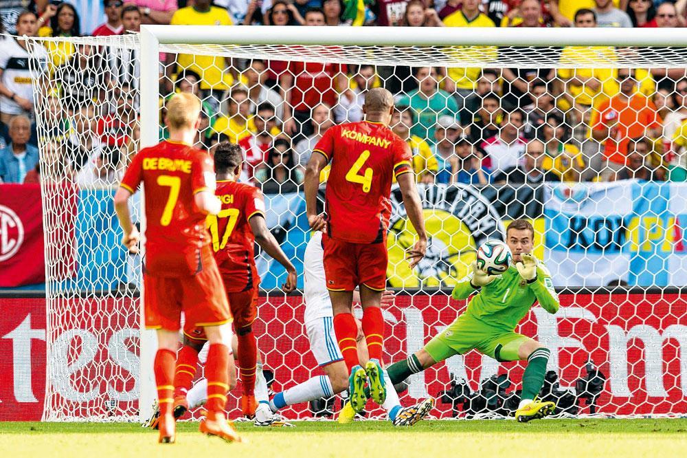 Son but face à la Russie, lors de la Coupe du Monde 2014, a donné un énorme un coup d'accélérateur à la carrière de Divock Origi., belgaimage