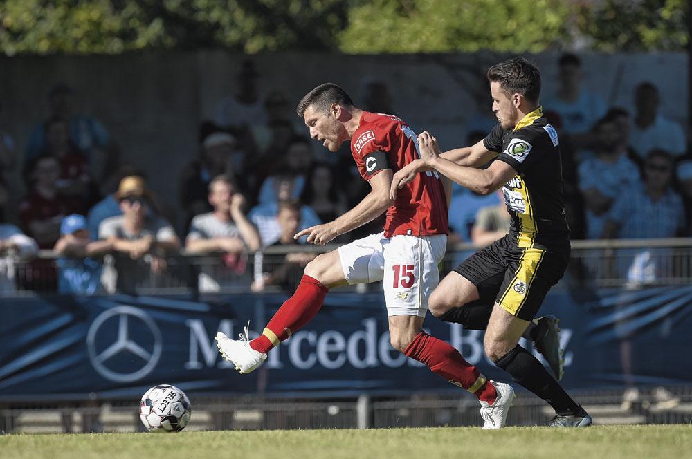 Sébastien Pocognoli et Michel Preud'homme pour personnifier le Standard., belgaimage