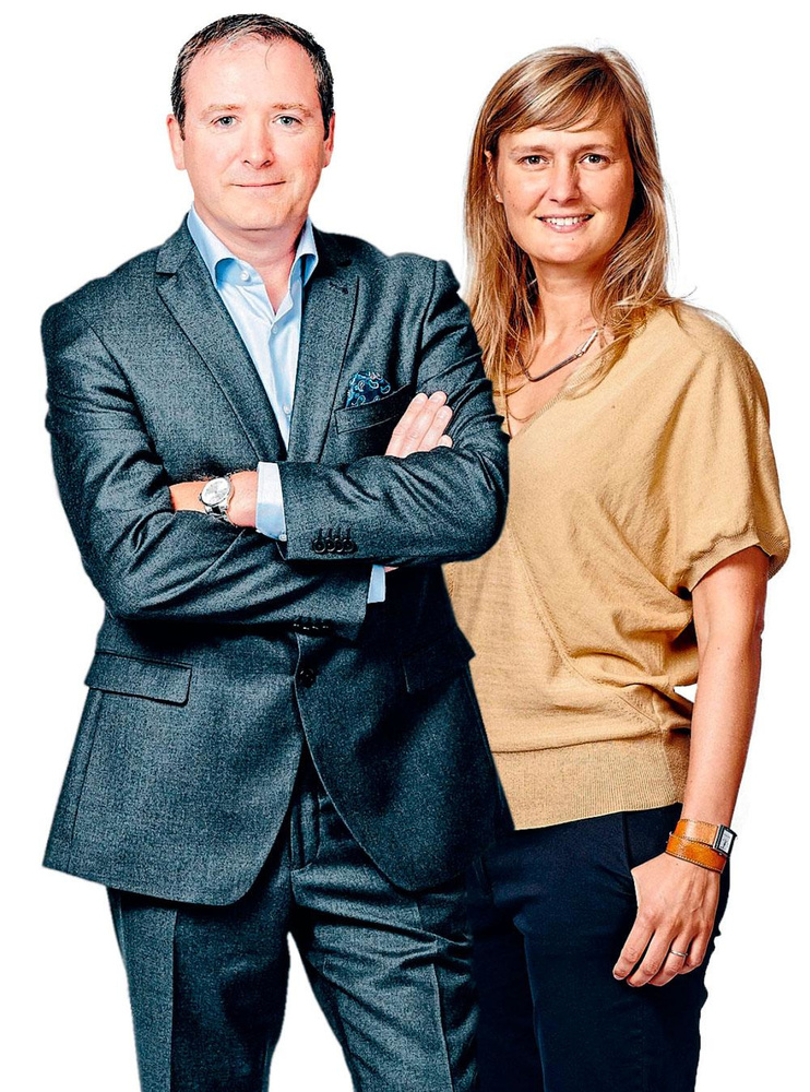 "Stephan Forseilles, ""head of technology & digital transformation"" d'Easyfairs et Anne Lafère, COO d'Easyfairs, PG"