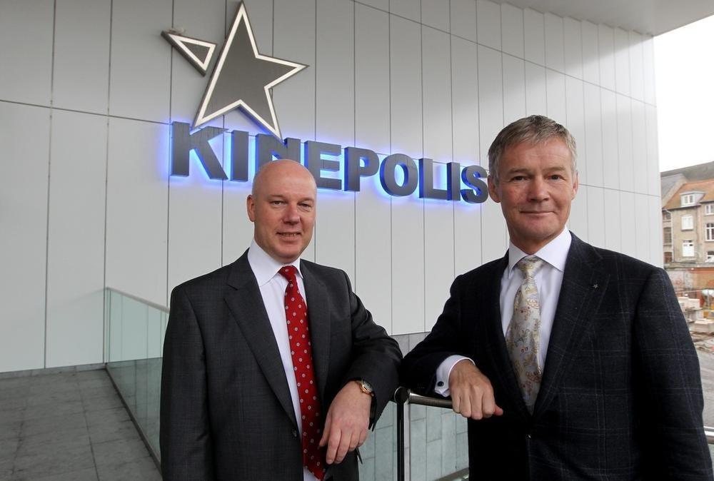 Eddy Duquenne (links) volgde in 2018 Joost Bert op als CEO van Kinepolis., BELGA
