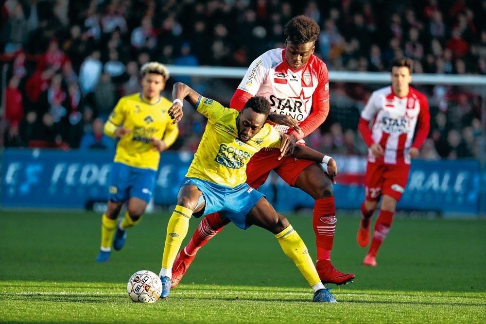 Yohan Boli is bezig aan zijn beste seizoen in het shirt van STVV., belgaimage