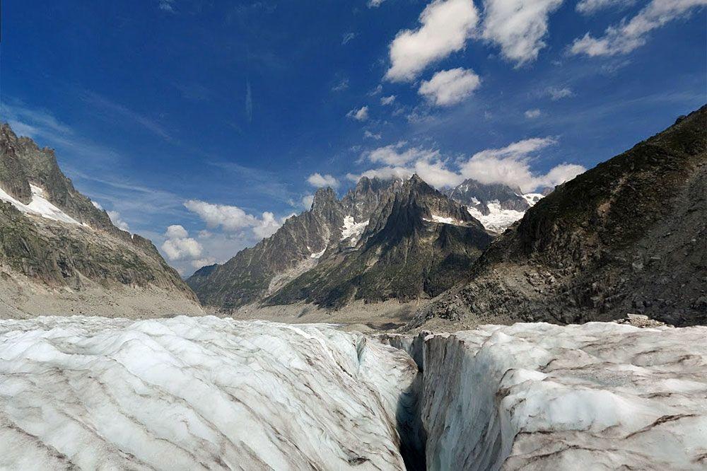 La mer de Glace, le plus grand glacier français., Google map