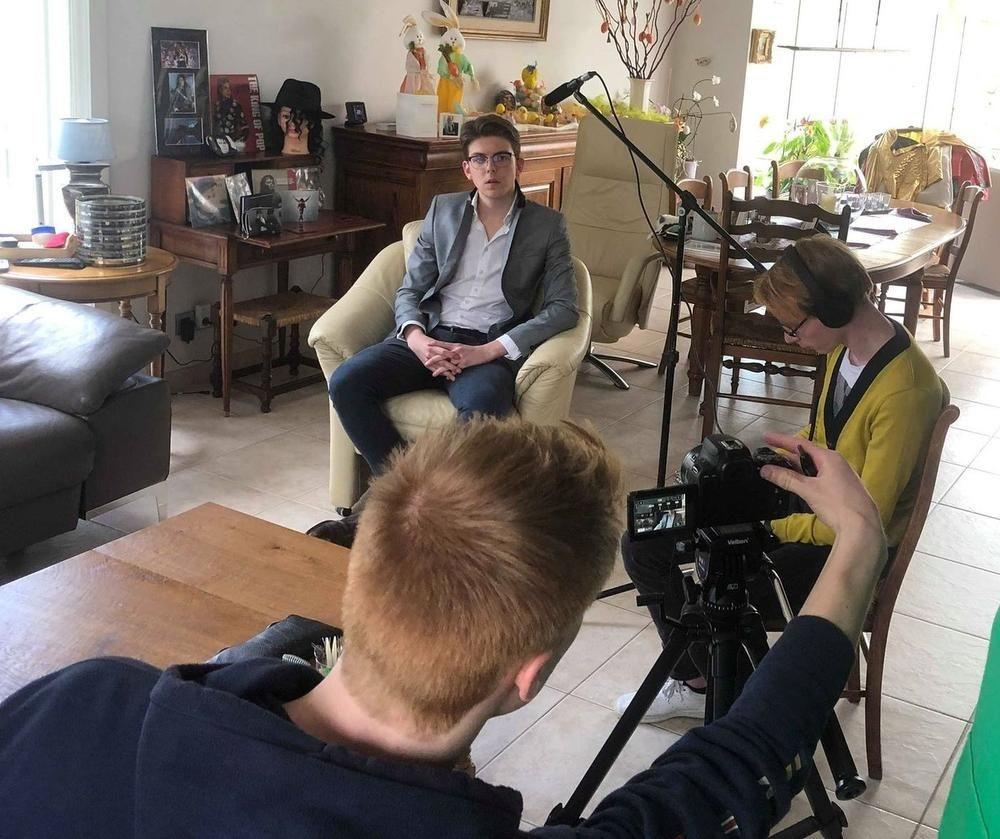 De filmploeg kwam één dagje draaien ten huize Mervyn in Oostkamp., FODI