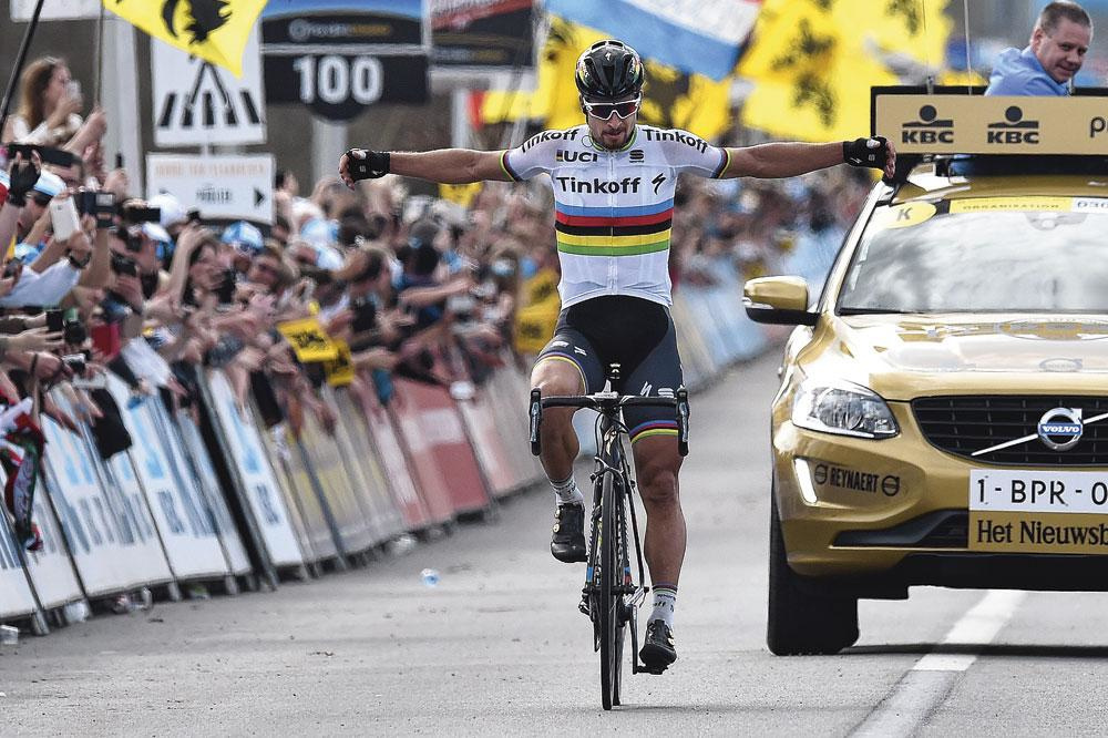 Peter Sagan wint zijn eerste klassieke monument, de Ronde van Vlaanderen 2016., getty
