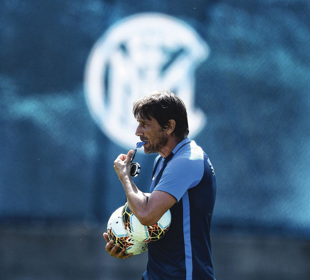 Antonio Conte wil bij Inter wegen op het sportieve beleid., getty