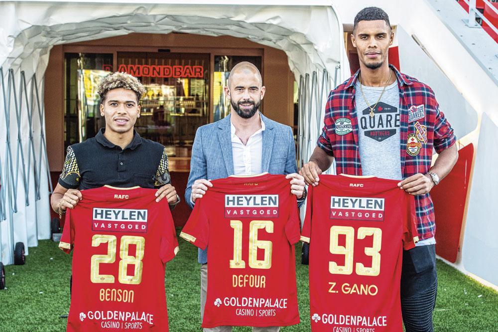 De aanwinsten Manuel Benson, Steven Defour en Zinho Gano bij FC Antwerp., belgaimage